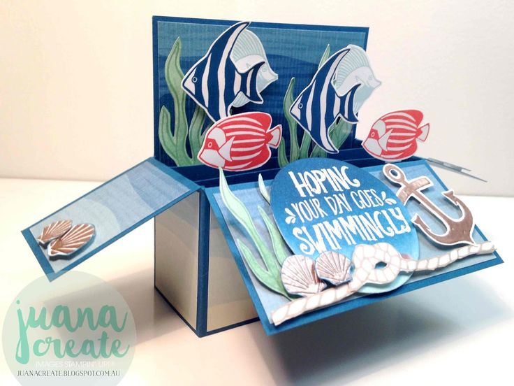 Juana Ambida | Seaside Shore card in a box | #GDP047, #CCteamprojecthighlights…