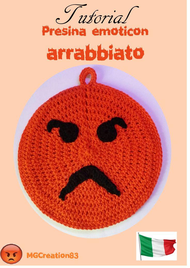 SCHEMA € 3,50 - presina emoticon arrabbiato! Contattatemi per riceverlo e per avere ulteriori informazioni!