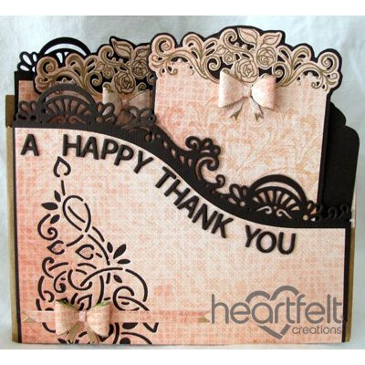 Heartfelt Creations - Happy Thank You Foldout Card Project