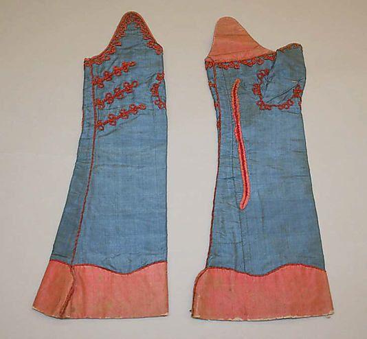 Mitts  Date: 18th century Culture: European Medium: silk