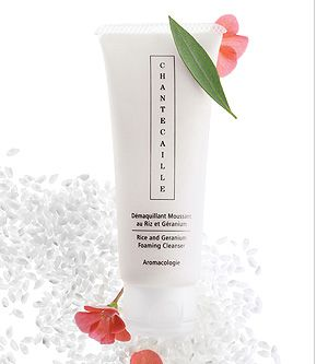Chantecaille - Rice & Geranium Foaming Cleanser. I thought this company sounded good.
