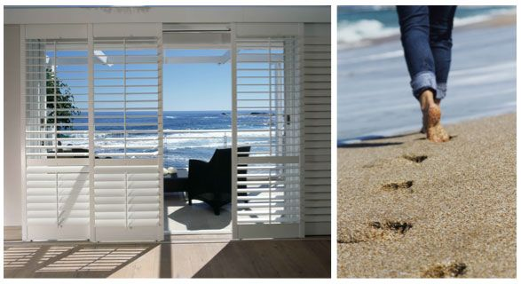 Shutters at the coast