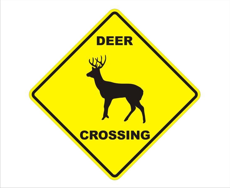 """Reflective Deer Crossing Fence Yard Sign, Caution Yellow,  0.40 Guage Aluminum Sign 16.5"""" Tall"""