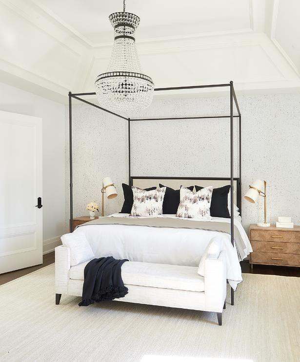 Master Bedroom Tray Ceiling Designs: Master Bedroom Design Showcasing A Tray Ceiling With A