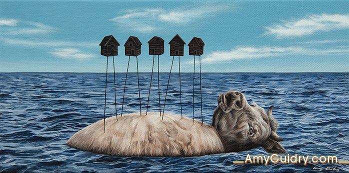 AMY GUIDRY http://www.widewalls.ch/artist/amy-guidry/ #contemporary #art #surrealism