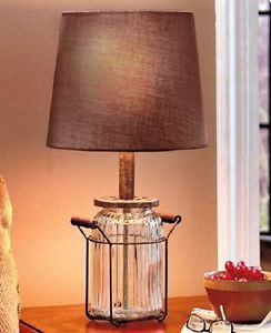 Country Style Lamps Primitive Table