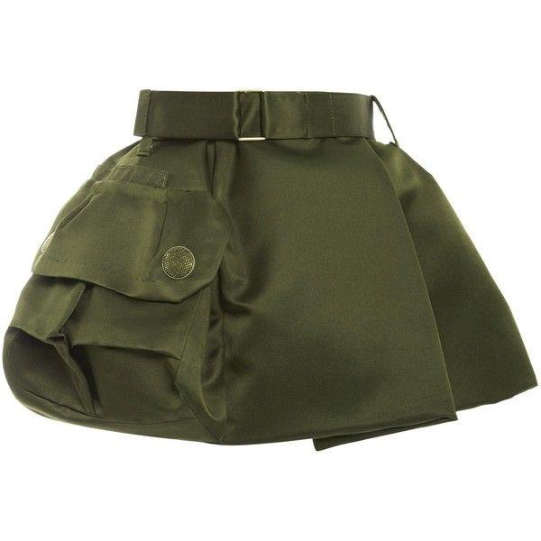 Marc Jacobs Military Green Silk Satin Twill Mini Skirt ($1,800)