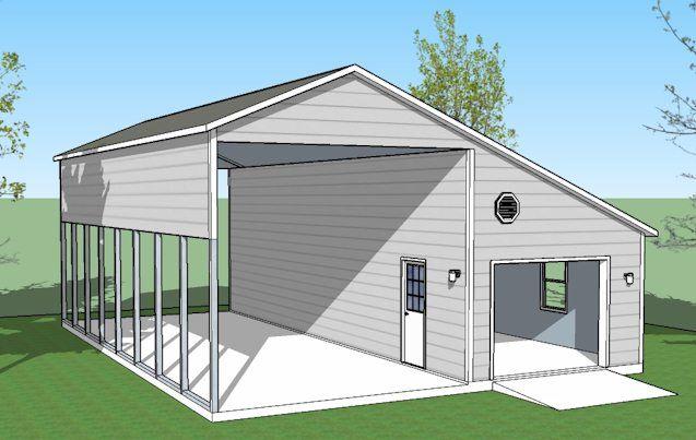Best 25 rv garage ideas on pinterest rv garage plans for Metal garage with porch