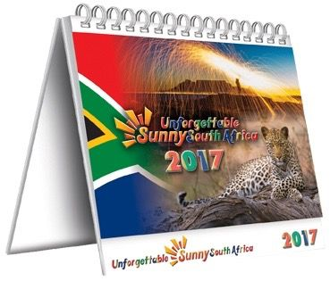 Delightful South African Desk Calendar with a different photograph for each week of the year and plenty of diary space too.