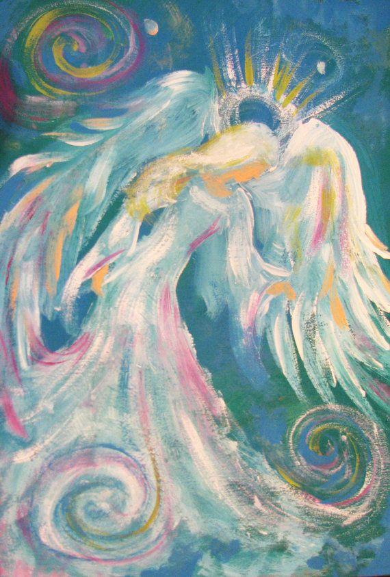 Sarah Pauline's Modern Impressionistic Painted Angel