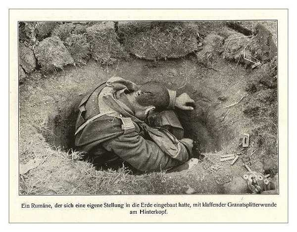 a dead Rumanian soldier