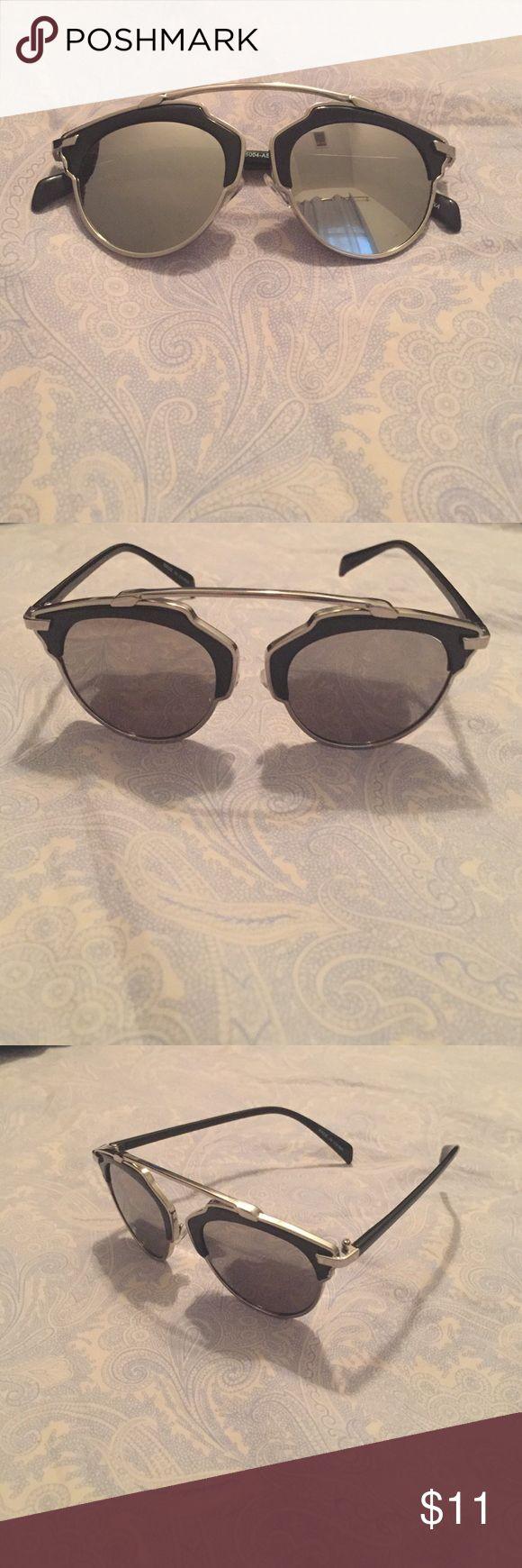 Selling this Women's Mirrored Sunglasses on Poshmark! My username is: bbergunk. #shopmycloset #poshmark #fashion #shopping #style #forsale #Accessories