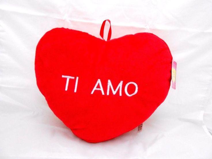 peluche cuscino cuore TI AMO san valentino rosso 70 cm