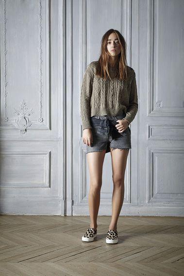 #spring #style #Outfit #sweater #cotton #Linen #kaki #denim #short #leopard #womenswear