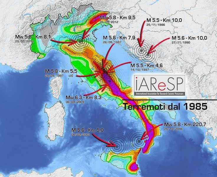 Carta della Pericolosità Sismica in Italia