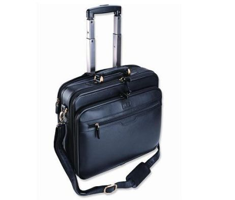 The Smartline Computer Trolley is a computer bag on wheels and takes 15.4 inch laptops. Material: Leather Size: 410 x 140 x 340 mm #brandability #corporategifts #laptopbags