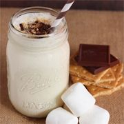 Try this s'mores milkshake for an easy mess free way to enjoy the great taste of s'mores.