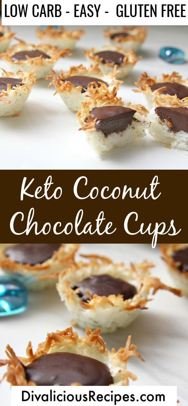 Keto Coconut Chocolate Cups