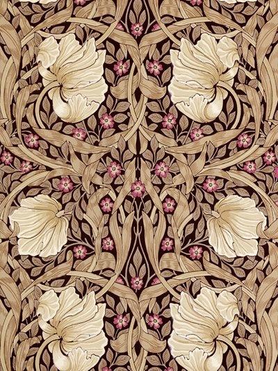 Sanderson Wallpaper, Morris & Co Pimpernel, Fig / Sisal, 210390