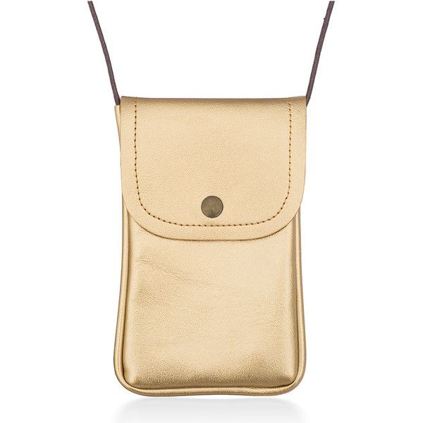 Women's Maze Exclusive Crossbody Cell Phone Bag ($7.99) ❤ liked on Polyvore featuring bags, handbags, shoulder bags, gold, travel handbags, beige shoulder bag, crossbody handbag, crossbody shoulder bag and travel shoulder bags
