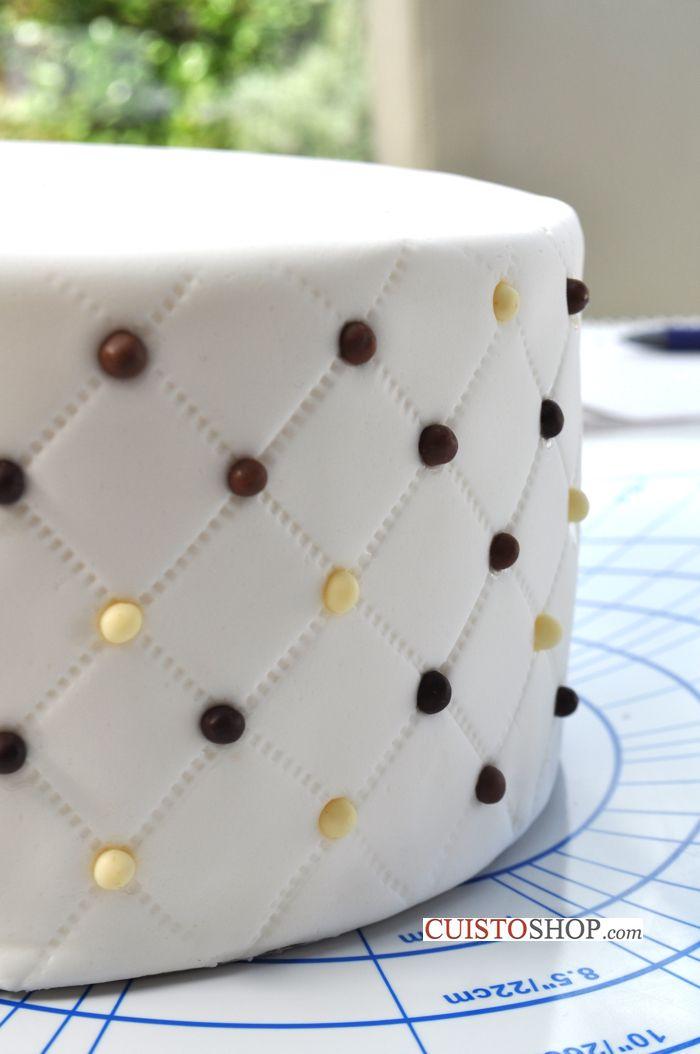 Comment faire un gâteau effet matelassé