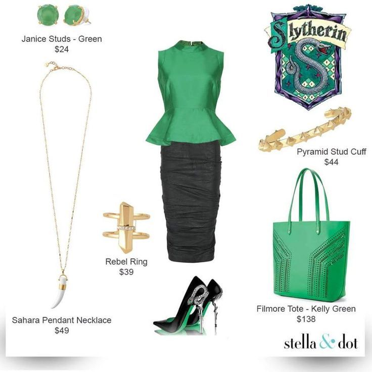 Slytherin- support your fav HP Houses by sporting your fav Stella & Dot www.stel…