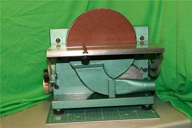 Drum-Type Grinding Machine by toly.kol -- Homemade drum-type grinding machine featuring a micro-adjustable tilting table. Powered by a 2500 RPM variable speed motor. http://www.homemadetools.net/homemade-drum-type-grinding-machine