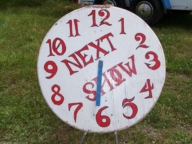 RARE Authentic Circus Sideshow Show Time Clock Prop Freak Oddity Magic Carnival