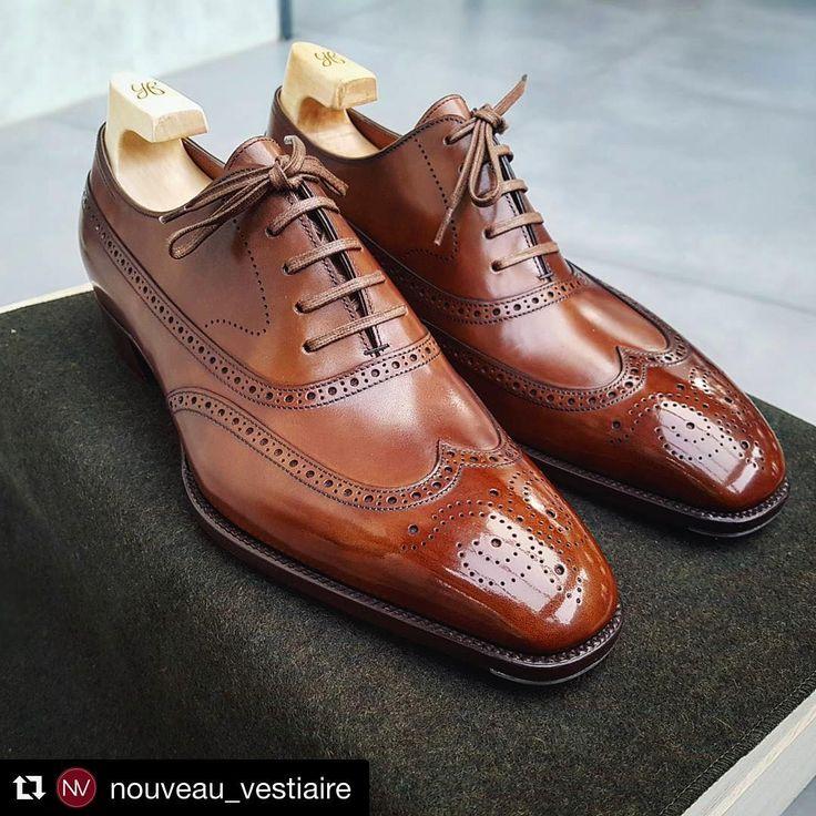 #Repost @nouveau_vestiaire  Shoes: Ebony model by Master Shoemaker Yohei Fukuda (RTW collection)  #menswear #dapper #mensfashionreview #ootdmen #mensstyle #menstyle #gentleman #wiwt #mensfashion #styleforum #ootdmen #sartorial #dandy #depiedencap #sartorialist #ootd #formal #yoheifukuda # #menshoes #shoes #shoestagram