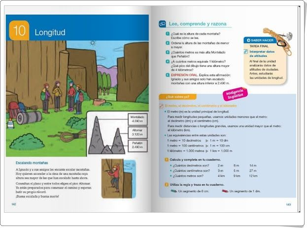 """Unidad 10 de Matemáticas de 4º de Primaria: """"Longitud"""""""