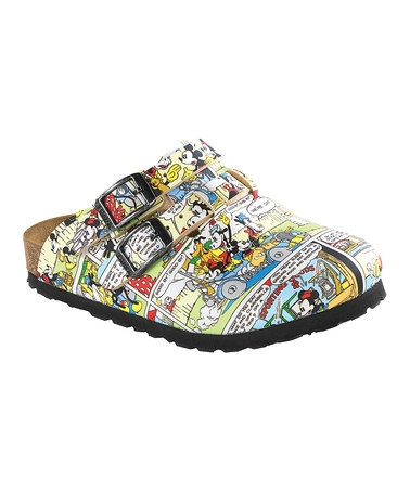 Take a look at this Multicolor Disney Comic Kay Mule by Birki's on #zulily today!