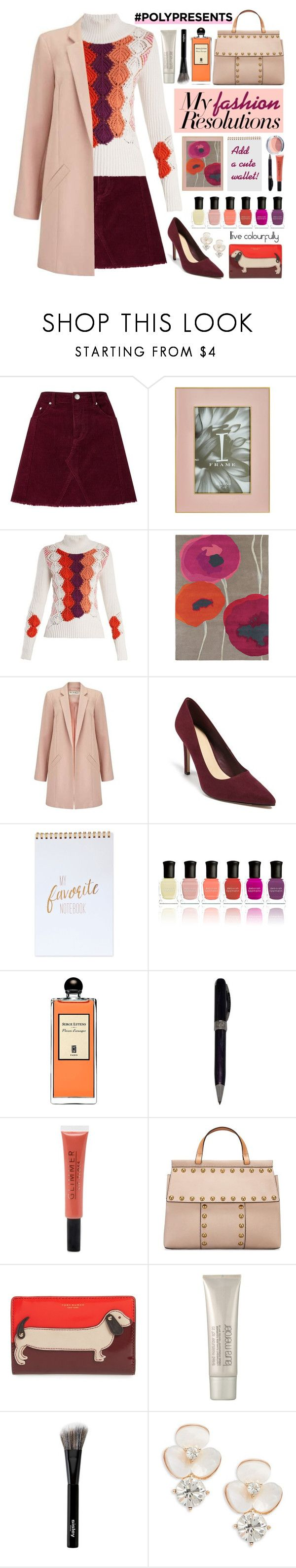 """""""#PolyPresents: New Year's Fashion Resolutions"""" by sunx2 ❤ liked on Polyvore featuring Miss Selfridge, Peter Pilotto, SANDERSON, Forever 21, Deborah Lippmann, Serge Lutens, Visconti, Tory Burch, Laura Mercier and Sisley"""