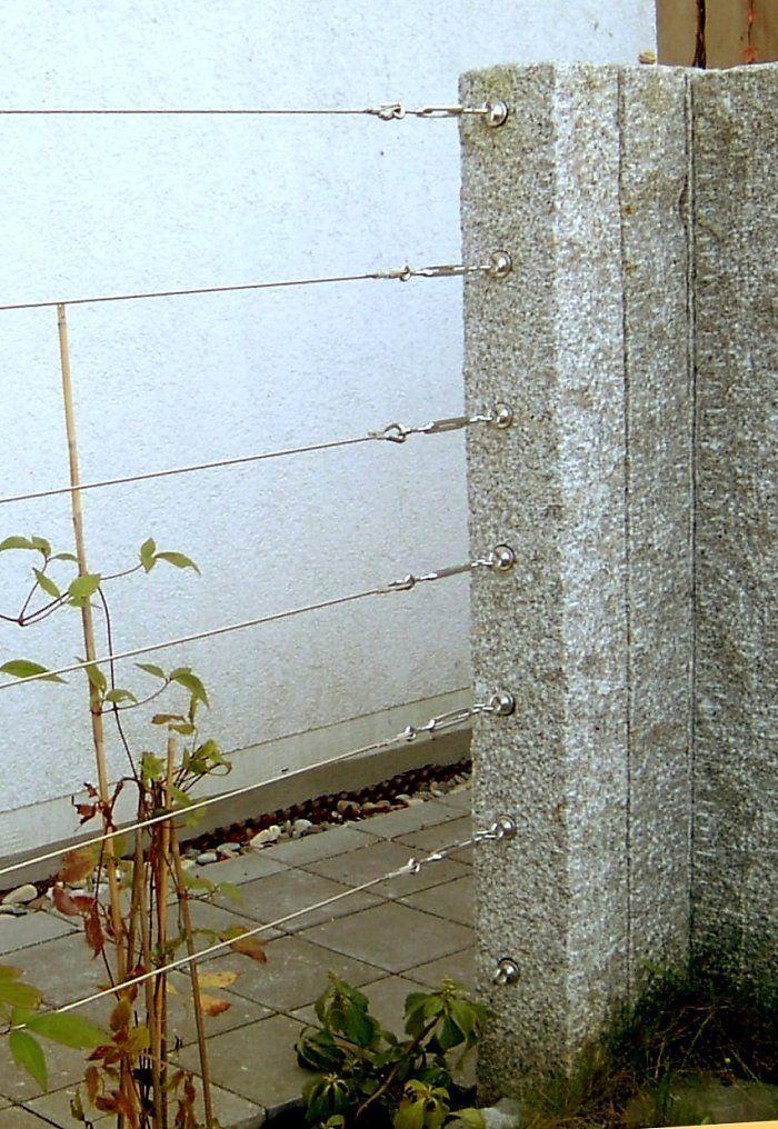 Related Image Sichtschutz Garten Garten Und Seilzaun Ideen Granit Zaun Mit Sichtschutz Gartenzaun Aus Holz Drahtseil Gart In 2020 Seilzaun Garten Sichtschutz Garten