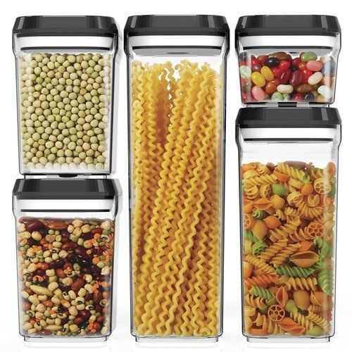 Food-Storage-Containers-Set-5PC-Air-Tight-Container-Durable-Plastic-BPA-Free
