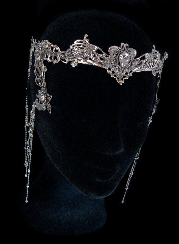 Elven Fairy Crown Circlet Tiara Crystal Diadem by AMonSeulDesir