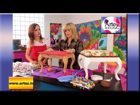 Seminario aprende a tapizar   o retapizar pequeños sillones - YouTube