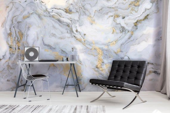 Marble Wallpaper Peel And Stick Marble Wall Mural Marble Etsy Marble Wallpaper Marble Wall Mural Grey Lattice Wallpaper