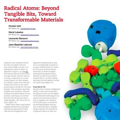 Radical Atoms by Hiroshi Ishii