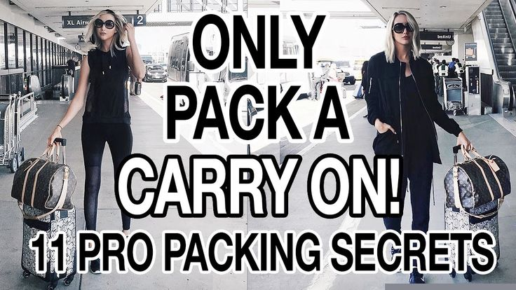 Nice HOW TO ONLY PACK A CARRY ON! 11 PRO PACKING TIPS! - video
