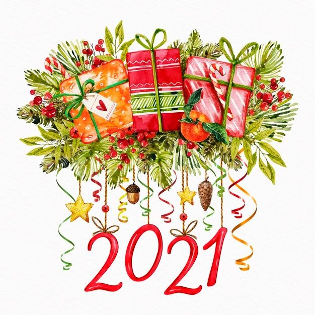 Download Watercolor New Year 2021 For Free Rozhdestvenskie Illyustracii Novogodnie Otkrytki Rozhdestvenskie Otkrytki