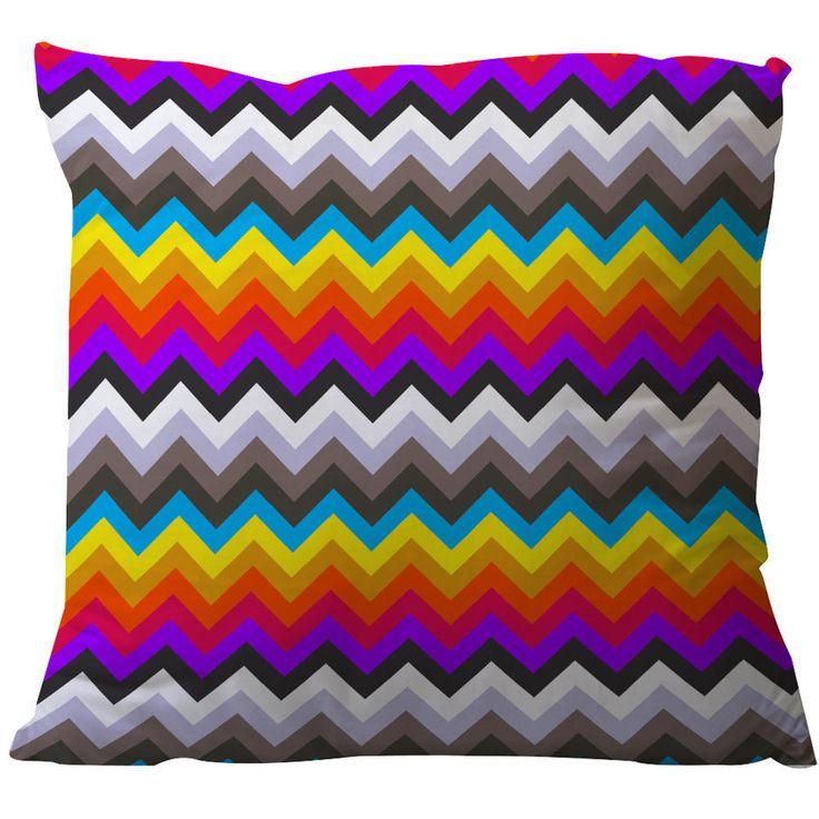 Almofada quadrada, estampa zigzag, 45 X 45, estilosa e confortável