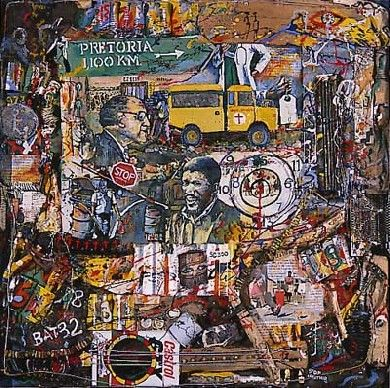 Willie Bester, Tribute to Biko - Pigozzi Collection 2013 - Contemporary African Art Collection