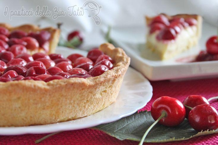 Crostata ciliegie e mascarpone - dolce di stagione