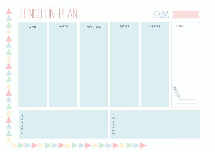 Organizador semanal | Planning