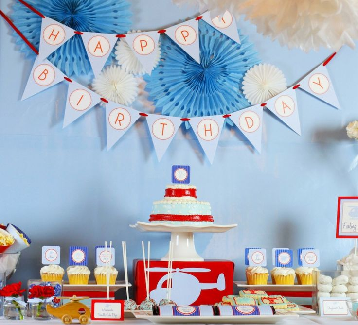 107 best airplane and helicopter party images on pinterest for Airplane party decoration ideas