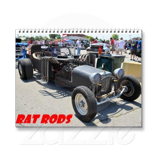 Rat Rod 2014 Calander Wall Calendar