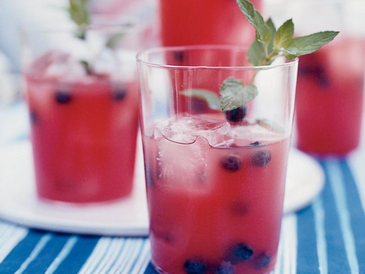 Watermelon-Tequila Cocktails   When watermelon is in abundance, this is a great way to use it. Bobby Flay purees seedless watermelon chunks, then strains the juice through a sieve ...