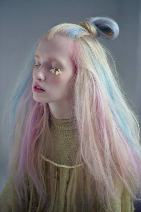 Cotton candy hair--great editorial look. | Personality ...