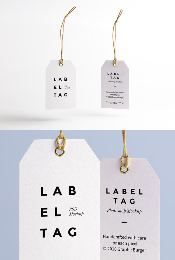 I'm pleased to introduce today a new high-quality PSD mock-up perfect for your future branding projects: a paper label tag...
