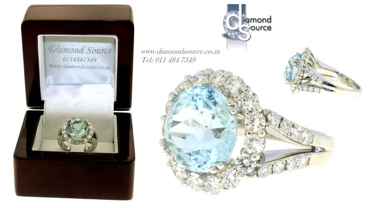 You dream it… We make it.  Another one of our most recent commissions featuring a Platinum ring set with diamonds and a 5.50ct. Round Aquamarine. Please email or call us with any queries. FREE QUOTATIONS on any jewellery design you require. E: info@diamondsource.co.za W: www.diamondsource.co.za T: 011 484 7349